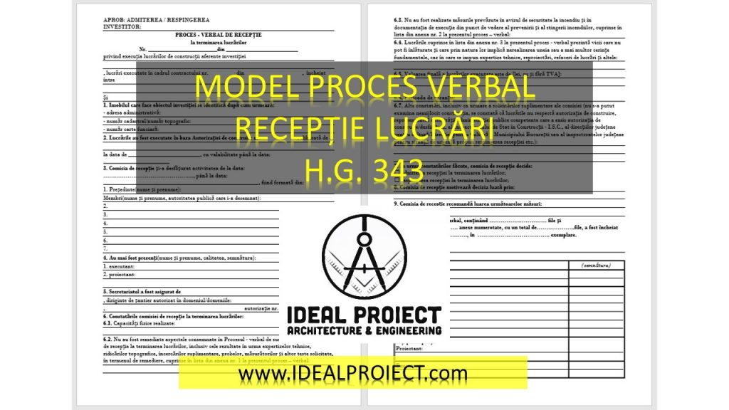 model proces verbal de receptie